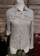 Ladies Asos Shirt Top size M 12 floral long sleeve button up collar