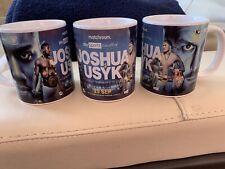 More details for anthony joshua v alexander usyk coffee mug. aj boxing memorabilia