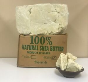 RAW AFRICAN SHEA BUTTER Unrefined Organic White/Ivory Pure Premium Choose Size