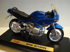 BMW R 1100 Rs Blaumetalic 1:18 Maisto on Stand Plate