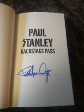 Signed Paul Stanley Backstage Pass Book KISS gene simmons ace frehley GLOBAL SHI