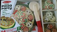 NEW SEALED Melissa & Doug Pizza Party Wooden Puzzle 54 Toppings