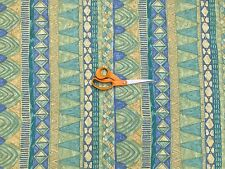 Green/Blue Abstract Egyptian Vintage Victorian Cotton Print Craft Fabric SALE