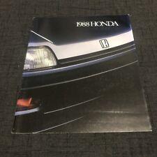 1988 Honda Civic CRX Accord Prelude Wagon USDM Brochure Rare EF 88-91 86-89 Si