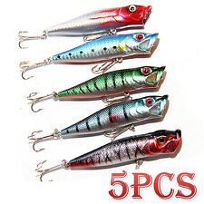 5X 95mm Popper Poppers Topwater Fishing Lures Surface GT Game Tackle Saltwater