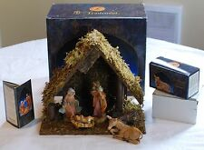 Vintage 1995 Fontanini 5 inch Nativity set and stable made by Roman Inc 54526