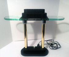 Vintage Sonneman & Kovacs Memphis Post Modern Brass Halogen Banker's Desk Lamp