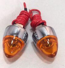 Amber LED Bullet License Plate Light Bolt Fasteners Pair 2