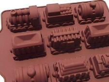 9-cavity Train Car Silicone Soap Mold Flexible Cupcake Chocolate Jelly DIY Molds