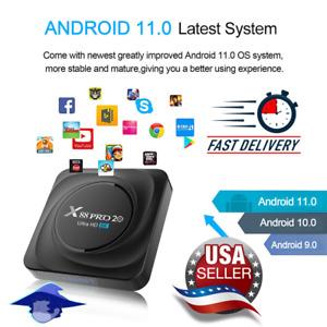 🔥🔥 X88 Pro 20 RK3566 TV Box Android 11 8GB RAM 128GB ROM 8K 24fps 2.4G/5G WiFi