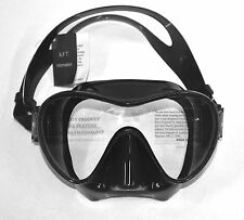 SOPRAS SUB OCCHIO DIVE MASK BLACK, Frameless, Silicone Scuba Diving, Freediving