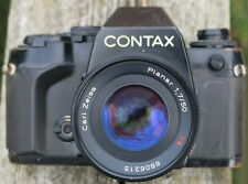 Contax 159mm Camera outfit with 2, lenses, and Flash Gun