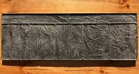 """Concrete texture stamp mat RUBBER for printing on cement plaster """"Curbsto"""""""