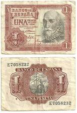 BILLETE DE 1 PESETA DE 1953 (BC-) M. DE SANTA CRUZ (SERIE E)