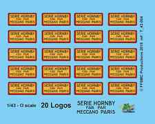 [FFSMC Productions] 0 scale - 1/43 Decals : 20 Logos Meccano Hornby