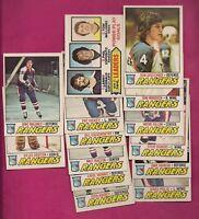 1977-78 OPC NY RANGERS CARD LOT  (INCLUDE ESPOSITO GRATTON) (INV# A4976)