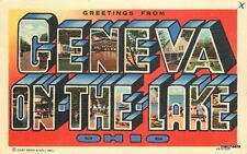 1940s GENEVA ON THE LAKE OHIO Large letters multi View TEICH postcard 4900