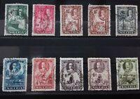 Nigeria 1936 KGV 10 USED VALUES  Z042     Free Shipping