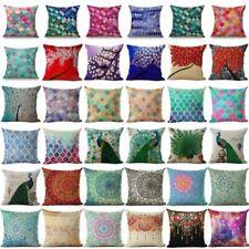 """18"""" Boho Ethnic Style Cotton Linen Throw Pillow Cover Case Sofa Cushion Cover"""