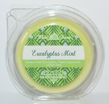 1 NEW BATH BODY WORKS EUCALYPTUS MINT WAX MELTS TART WHITE BARN CANDLE WARMER