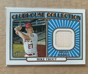 2021 heritage clubhouse collection Mike Trout Bat Piece Los Angeles Angels