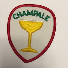 Champale Yellow Wine Glass Patch