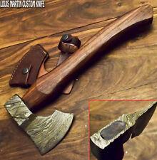 Louis Martin Custom Damascus Steel Art Tomahawk Knife,Hatchet, Axe,Integral