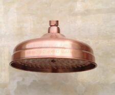8-inch Antique Red Copper Round Rainfall Shower Head Bathroom Top Sprayer Zsh054