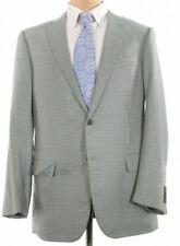 100% Pure Cashmere Ermenegildo Zegna Sport Coat Size 44R Green Blue Check Light