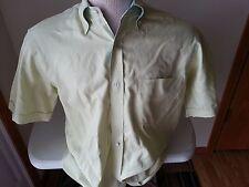 Paul & Shark lime & white check short sleeve button down - mens 38