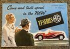 MG TF Series Original UK Brochure 1950 Art Poster
