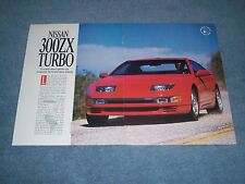 "1990 Nissan 300ZX Turbo Vintage New Car Info Article ""A World-Class Sports Car.."