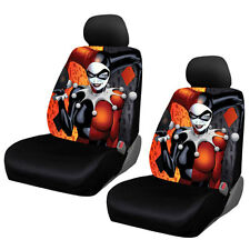 New Suicide Squad Harley Quinn Car Truck 2 Front Seat Covers & Headrest Covers