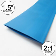 """(8 INCHES) 1.5"""" Blue Heat Shrink Tubing 2:1 Ratio feet/foot/ft/to 1-1/2"""" 40mm"""