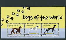 Liberia 2012 MNH Dogs of World 3v M/S II Dalmatian Greyhound Pets Stamps