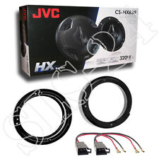 JVC Lautsprecher 320W VW Lupo FOX New Beetle Lautsprecherringe 165mm+Adapter Set