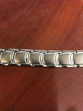 Bionic Strength Energy Power Balance Link Bracelet Titanium  Crescent Square