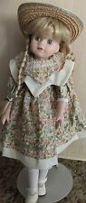 """Doll 17"""" Tall with Stand Porcelain-Precious-Darlin g-Unbranded Doll"""