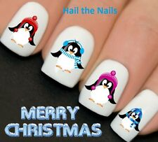 Nails WRAPS Nail Art Water Transfers Decals Christmas Penguins Scarfs YD762