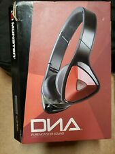 Monster DNA On-Ear Noise Isolation Headphones - Black Red, Rare color!