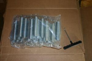 32pc 7 Inch Trampoline Springs Heavy-Duty Galvanized Steel Set Kit + Tool