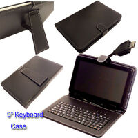 "9"" PU LEATHER  KEYBOARD CASE COVER for  9"" TERRA 90 GOCLEVER TAB I921 Tablet"