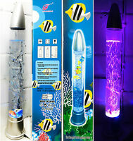 "28"" Aquarium Bubble LED Lamp Novelty Fish Water Mood Colour Changing Light 71cm"