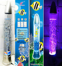 "28"" Color Changing LED Aquarium Bubble Lamp Light Novelty Fish Water Mood"