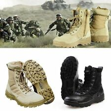 Zipper Forced Entry Leather Tactical Deployment Boot Military Boots Duty Work