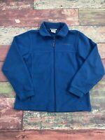 Columbia Blue Fleece Zip Up Jacket Youth Boys Size 14/16