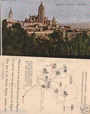 ANTIGUA POSTAL SEGOVIA PANORAMA JUNTA TURISMO OLD POSTCARD POSTKARTE     CC00657