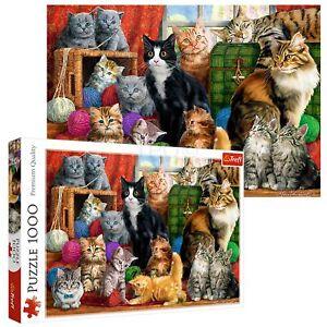 Trefl 1000 Piece Adult Large Cute Cats Meeting Feline Play Fun Jigsaw Puzzle