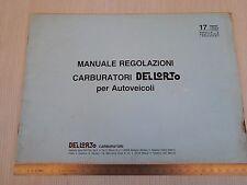 MANUALE ORIGINALE DELL'ORTO CARBURATORE 1982 REGOLAZIONI ALFA FIAT LANCIA ETC