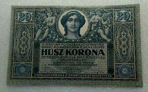 20 Korona Hungary 1919 aUNC-